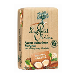 Extra Săpun natural fin unt de Shea (Extra Mild Surgras Soap) 250 g
