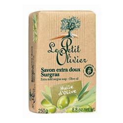 Extra jemné přírodní mýdlo Olivový olej (Extra Mild Surgras Soap) 250 g