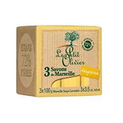 Săpun Marsilia cu glicerina (Marseille Soaps) 3 x 100g