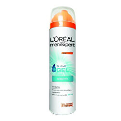 Hydratační gel na holení pro citlivou pleť Men Expert (Hydra Sensitive Shave Gel) 200 ml