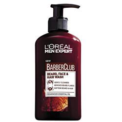 Gel na vousy, tvář a vlasy Barber Club Gel 3v1 (Beard, Face & Hair Wash) 200 ml