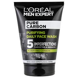 Čisticí gel s aktivním uhlím Men Expert Pure Carbon (Purifying Daily Face Wash) 100 ml