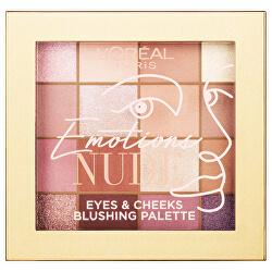 Szemhéjpúder paletta   Emotions of Nu (Eyes & Cheeks Blushing Palette) 15 g