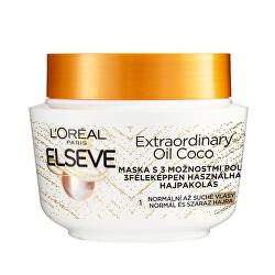 Maska na vlasy s kokosovým olejem na normální až suché, nepoddajné vlasy Elseve Extraordinary Oil 300 ml