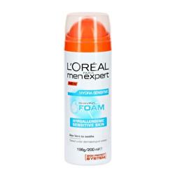 Hydratační pěna na holení pro citlivou pleť Men Expert (Hydra Sensitive Shaving Foam) 200 ml