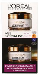Sada denního a nočního krému proti vráskám Age Specialist 55+ 2 x 50 ml