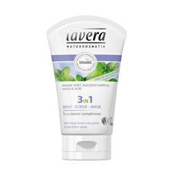 Tisztító emulzió, bőrradír és maszk 3 az 1-ben (Wash, Scrub, Mask) 125 ml