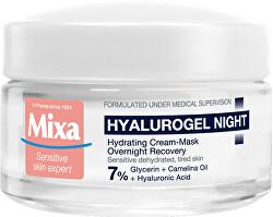 Noční krém pro citlivou pleť se sklonem k vysušení Hyalurogel (Hydrating Cream-Mask Overnight Recovery) 50 ml