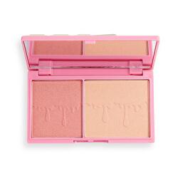 Bőrvilágosító paletta Rosé Fizz Glow (Highlighter Palette) 11 g