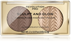 Kontúrovacia paletka Sculpt and Glow Savanna Nights PRO (Contour And Highlight Palete) 4 g