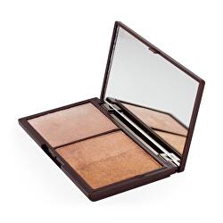 Világosító és bronzosító arcpaletta ( Mini Chocolate Bronze And Shimmer) 11 g