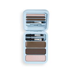 Sada na úpravu obočí Makeup Obsession (Brow Goals Kit Medium To Dark Brown) 4,2 g
