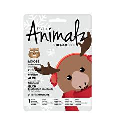 Zvlhčující plátýnková maska Animalz Moose (Moisturizing Sheet Mask) 21 ml
