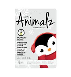 Čisticí plátýnková maska Animalz Penguin (Purifying Sheet Mask) 21 ml