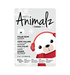 Vyživující plátýnková maska Animalz Polar Bear (Nourishing Sheet Mask) 21 ml