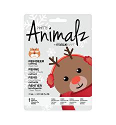 Zklidňující plátýnková maska Animalz Reindeer (Calming Sheet Mask) 21 ml