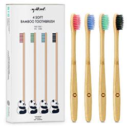 Bambusový zubní kartáček (Bamboo Toothbrush) 4 ks