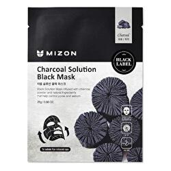 Čisticí maska s dřevěným uhlím (Charcoal Solution Black Mask) 25 g