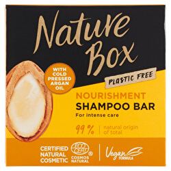 Tuhý šampon na vlasy Argan Oil (Nourishment Shampoo Bar) 85 g