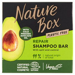 Tuhý šampon pro regeneraci vlasů a kontrolu roztřepených konečků Avocado Oil (Shampoo Bar) 85 g