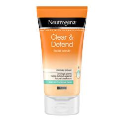 Vyhladzujúci peeling Clear & Defend (Facial Scrub) 150 ml