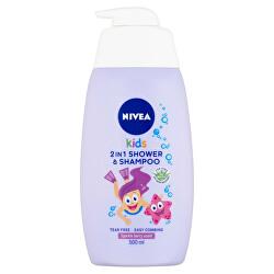 Dětský sprchový gel a šampon 2 v 1 s vůní lesního ovoce (2 in 1 Shower Shampoo) 500 ml