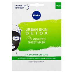Detoxikační textilní 10 minutová maska Urban Skin (10 Minutes Sheet Mask) 1 ks