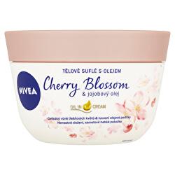 Tělové suflé s olejem Cherry Blossom & Jojobový olej 200 ml