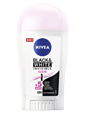 Tuhý antiperspirant Invisible For Black & White Clear 40 ml