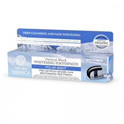 Přírodní bělicí zubní pasta Polární noc (Natural Black Whitening Toothpaste) 100 g