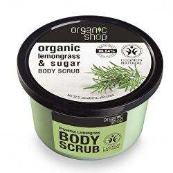 Koupelový cukrový peeling Organic Lemongrass & Sugar (Body Scrub) 250 ml