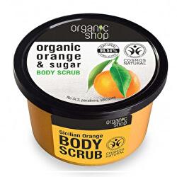 Tonizační tělový cukrový peeling Organic Orange & Sugar (Body Scrub) 250 ml