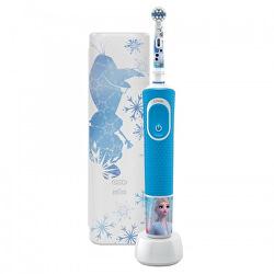 Elektrický zubní kartáček pro děti Vitality D100 Kids Frozen s cestovním pouzdrem