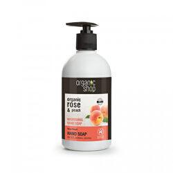 Vyživující mýdlo na ruce Růže a broskev (Nourising Hand Soap) 500 ml