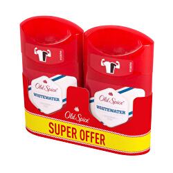 Tuhý deodorant Whitewater Duo 2 x 50 ml