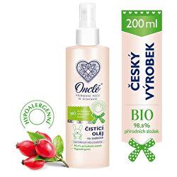 Luxusní dětský čistící a ochranný olej na zadeček s Bio šípkovým olejem 200 ml