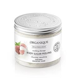Zklidňující cukrový tělový peeling s kozím mlékem a liči (Body Sugar Peeling) 200 ml