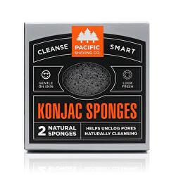 Prírodné konjakový huba (Konjac Sponges) 2 ks