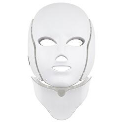 Tratament LED Mască pentru față și gât alba (LED Mask + Neck 7 Colors White)