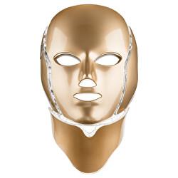 Ošetřující LED maska na obličej a krk zlatá (LED Mask + Neck 7 Colors Gold)