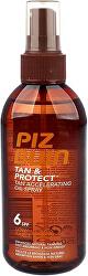 Ochranný olej ve spreji urychlující proces opalování Tan & Protect SPF 6 (Tan Accelerating Oil Spray) 150 ml