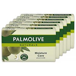 Tuhé mýdlo Naturals Moisture Care Olive & Milk 6 x 90 g