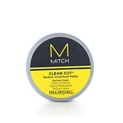 Polomatný stylingový krém na vlasy Mitch (Clean Cut - Med Hold Styling Cream) 85 ml