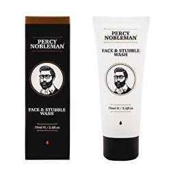 Gel de curățare față și barbă(Face & Stubble Wash) 75 ml