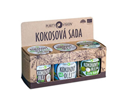 Kokosová sada (Raw kokosový olej, Panenský kokosový olej, Kokosový olej bez vůně)