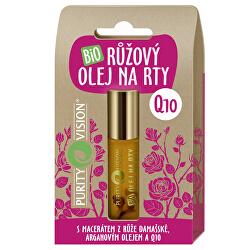 Bio Růžový olej na rty Q10 10 ml