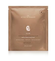 Rozjasňujúci textilné pleťová maska Glow The Ritual of Namaste (Radiance Bio-Cellulose Sheet Mask) 24 ml