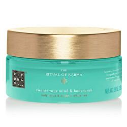 Tělový peeling The Ritual Of Karma (Cleanse Your Mind & Body Scrub) 250 g