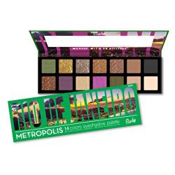 Paletka 14 očních stínů Metropolis Rio De Janeiro (14 Colors Eyeshadow Palette) 15 g