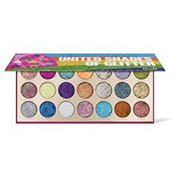 Paletka 21 očních stínů United Shades of Glitter (Eye Shadow Palette) 21 g